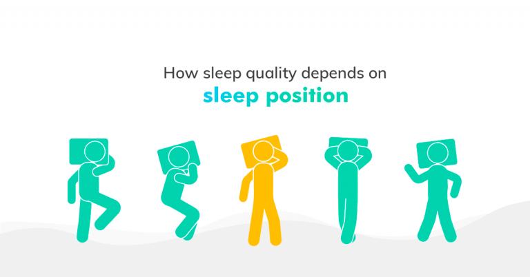How sleep quality depends on sleep position